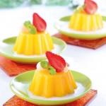 Foto Resep Puding Mangga Topping Strowbery