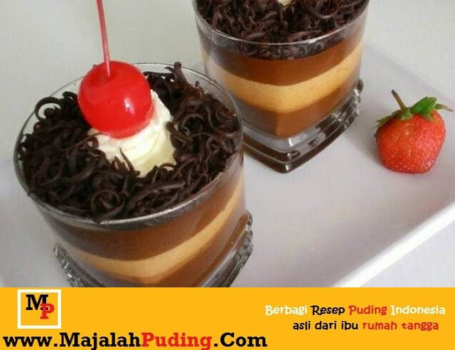 Gambar Foto Resep Puding Cup Black Forest